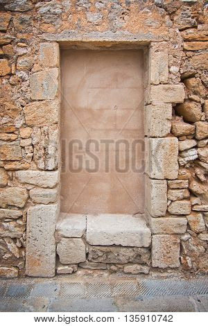 Traditional Mallorca Stone Wall Background Texture