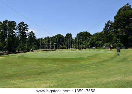 Golf course landscape background at Georgia, USA