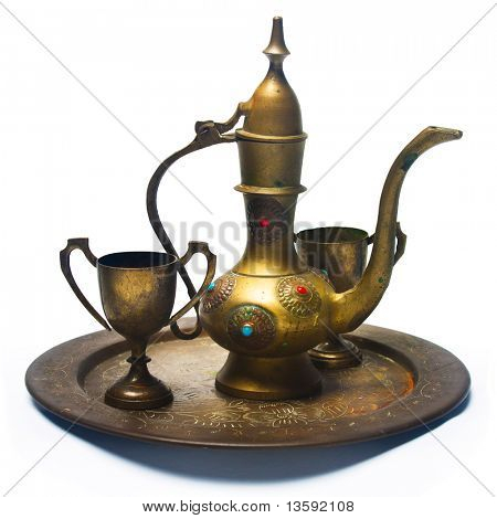 Antique Nyonya Tea Set, Clipping Path Included