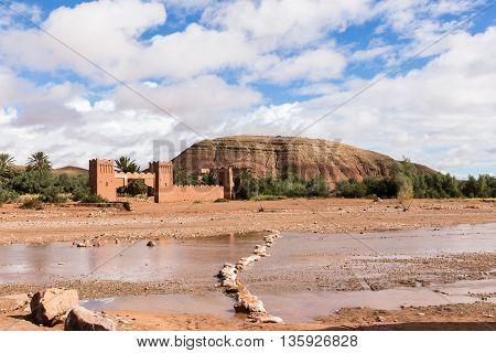 Moroccan kasbah of Ait ben Haddou near quarzazate.