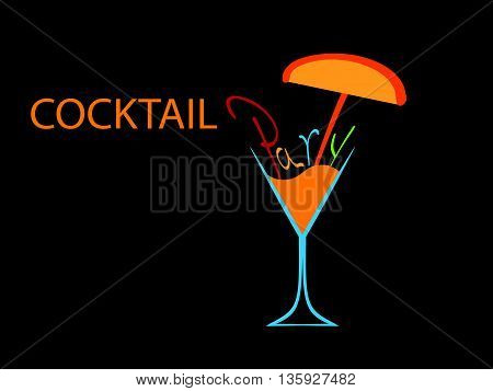 Cocktail party vector.CardCocktail party . Cocktail party invitation or bar menu with of cocktail glasses.Cocktail party poster. Cocktail party invitation.