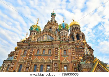 Savior on Spilled Blood Cathedral in St.Petersburg Russia. poster