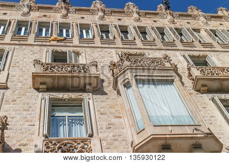 modernist building facade from barcelona, Catalonia, Spain
