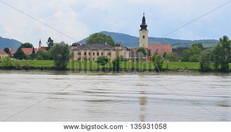 Church in the village of Mautern an der Donau Wachau region Austria