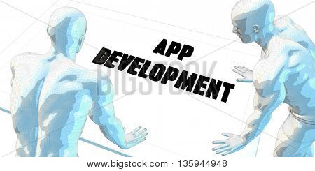 App Development Discussion and Business Meeting Concept Art 3d Illustration Render