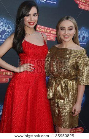 LOS ANGELES - JUN 23:  Sofia Carson, Sabrina Carpenter at the 100th DCOM Adventures In Babysitting LA Premiere Screening at the Directors Guild of America on June 23, 2016 in Los Angeles, CA