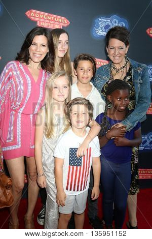 LOS ANGELES - JUN 23:  Tricia Leigh Fisher, Joely Fisher, and children at the Adventures In Babysitting LA Premiere Screening at the Directors Guild of America on June 23, 2016 in Los Angeles, CA