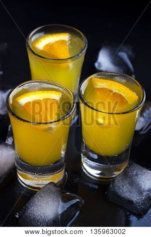 Cocktail With Orange And Ice