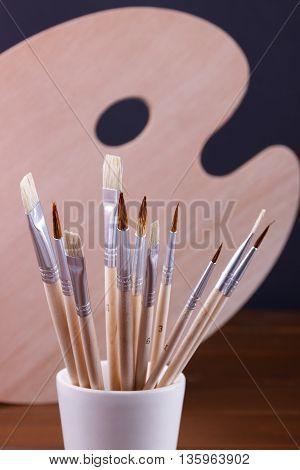 Set Of Painting Brushes