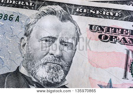 Banknotes Background, American Dollar, Financial Concept