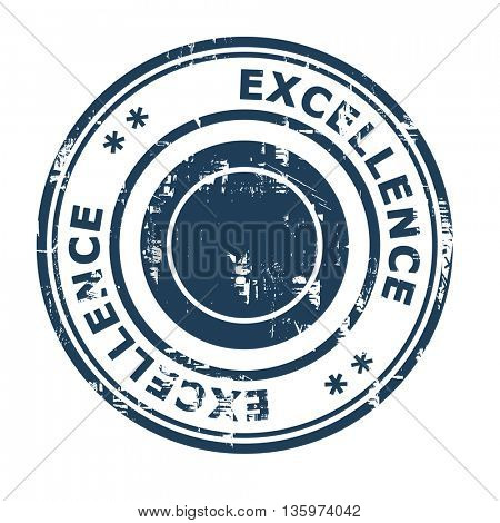 Excellence business concept rubber stamp isolated on a white background.