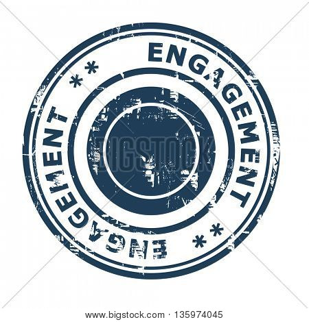 Engagement business concept rubber stamp isolated on a white background.