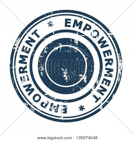 Empowerment business concept rubber stamp isolated on a white background.