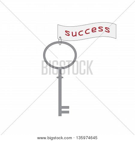 Vector illustration of key. Key icon Key icon vector. Success.The key to success
