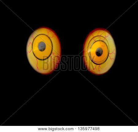 The eye ,The sneak terror concept .