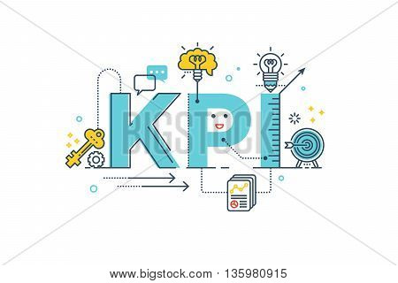 Kpi : Key Performance Indicator Word