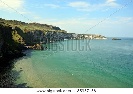 Coast Of Ireland With Sea And Cliffs Near Dublin