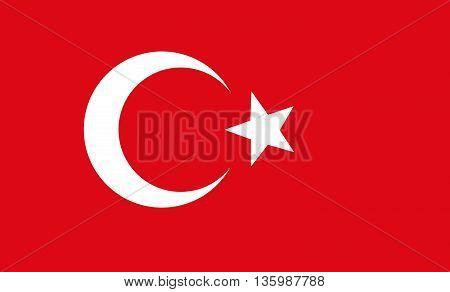 Original vector illustration background of turkey flag