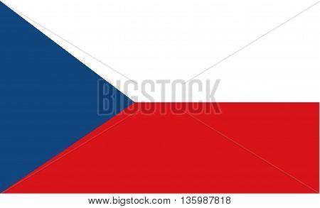 Stock Flag of Czech Republic illustration art