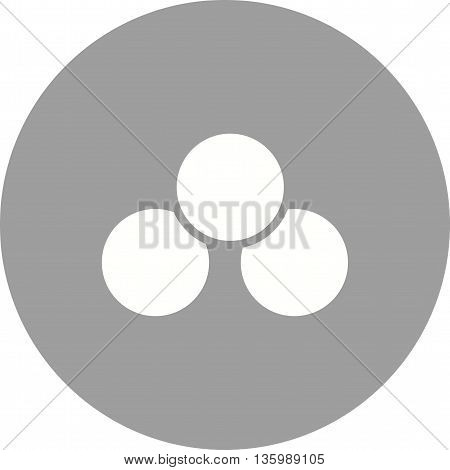 Venn, diagram, business icon vector image. Can also be used for infographics. Suitable for web apps, mobile apps and print media.