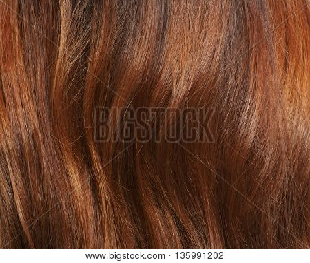 Long brown hair as background. Representation of woman's brownhair asbackground in studio. Hairdressing concept.