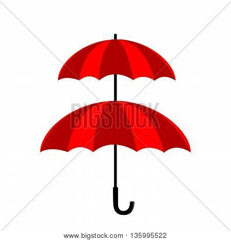 Double protection concept double layer of umbrella isolated on the white background vector illustration eps10