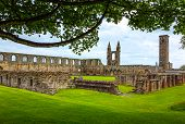 Great Britain Scotland Fife area St Andrews the Cathedral's ruins poster