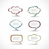 Speech bubbles vector poster