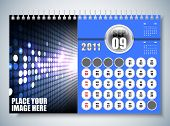 September - Calendar Design 2011 poster
