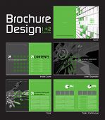 Brochure Layout Design Template with 10 Pages (5 Spreads) Preview. poster