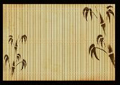 Background - an ancient Japanese reed mat poster