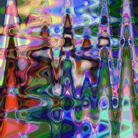 Abstract rainbow coloring background of the pastels gradient with visual wave,twirl and cubism effects,good for your design