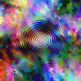 Abstract rainbow coloring background of the pastels gradient with visual wave,zigzag and cubism effects,good for your design