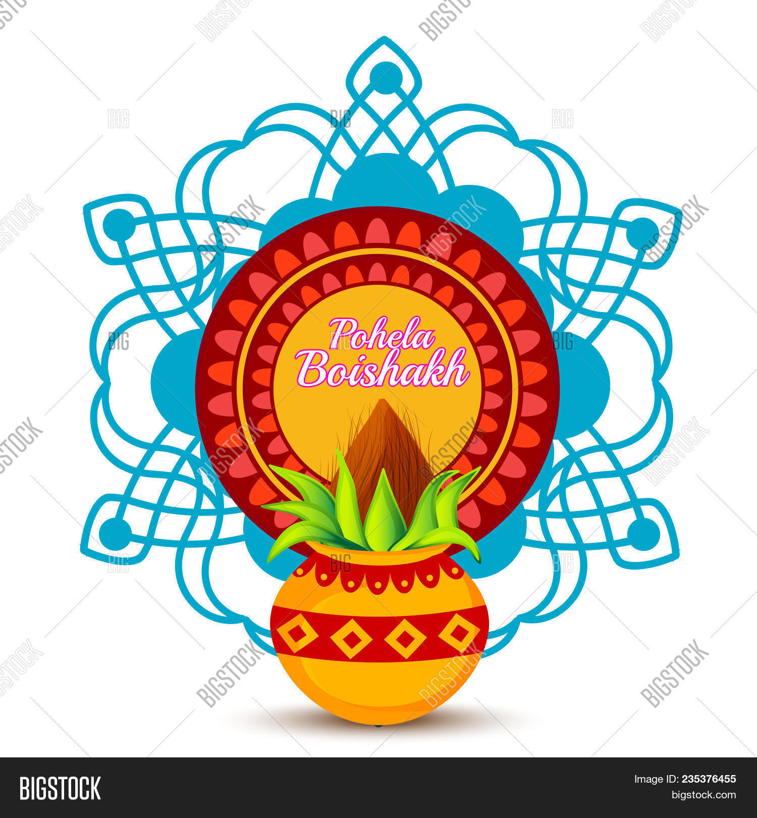 poster or banner of bengali new year pohela boishakh greeting card background
