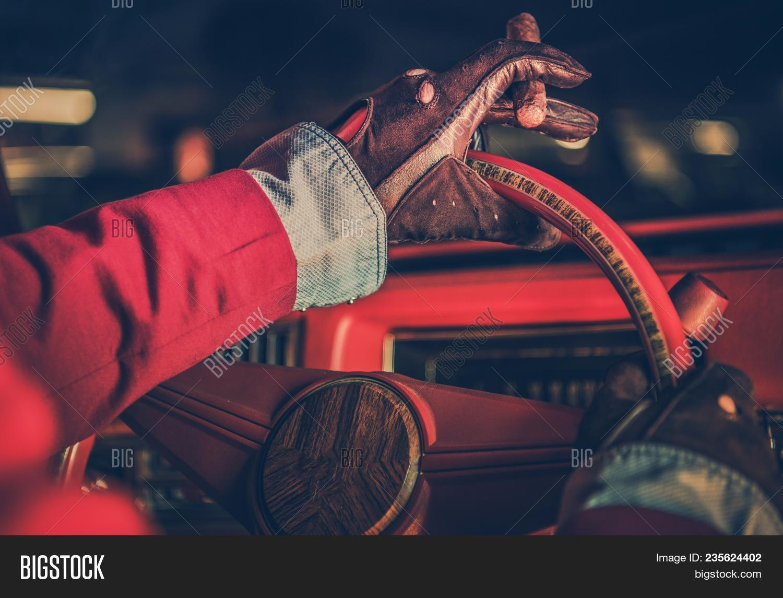 Classic Car Driver Image Photo Free Trial Bigstock