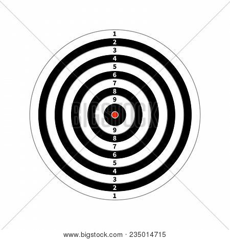 Score Target For Shooting Practice Isolated On White
