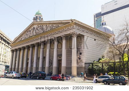 Buenos Aires, Argentina - September 12: The Buenos Aires Metropolitan Cathedral, The Main Catholic C