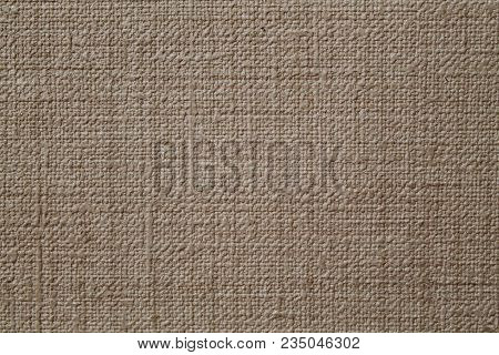 Flax Canvas As Background Or Texture. Fabric Flax Canvas Texture As Background. Grunge Natural Linen