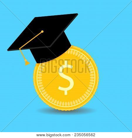 Financial Investments In Training. Vector Graduation University, Invest In Bachelor, Scholarship Fin