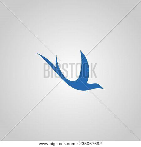 swallow logo design vector photo free trial bigstock swallow logo design vector photo