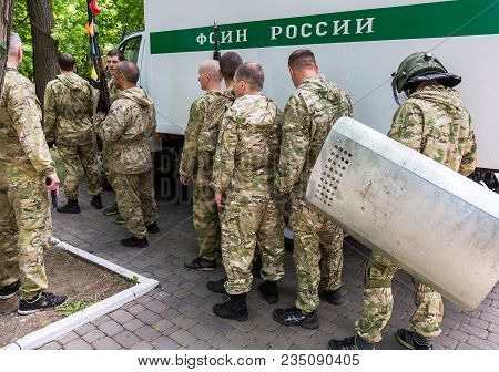 Samara, Russia - May 27, 2017: Special Forces Soldiers Of Federal Penitentiary Service Of The Russia