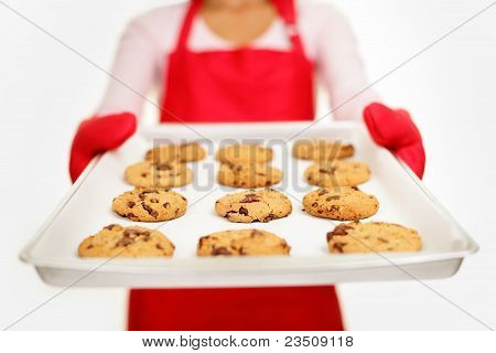 Chocolate Chip Cookies - Baking Woman