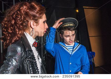 Tyumen, Russia - April 16, 2014: Competition Of Young Performers The Song Knows No Limit In Dramatic