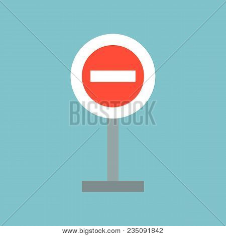 Stop Sign, Forbidden Sign, Traffic Sign Flat Icon