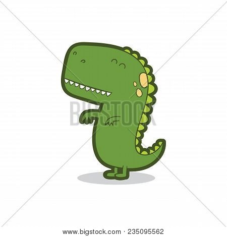 Dinosaur Cartoon Vector Illustration Seamless Patern . Cartoon Dinosaurs Cute Monster Funny Animal A
