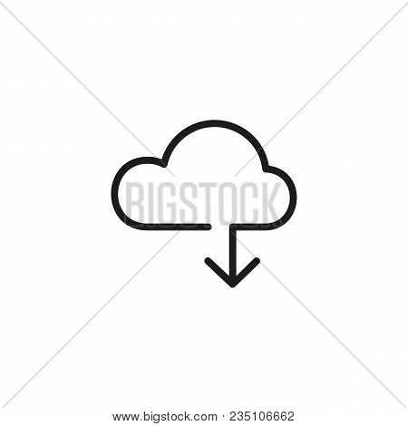Icon Of Cloud Storage. Uploading, Information, Connection. Technology Concept. Can Be Used For Topic