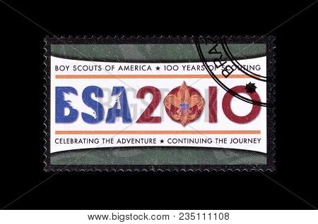 Congo - Circa 2010 : Cancelled Postage Stamp Printed By Congo, That Shows Boy Scouts Of America Logo