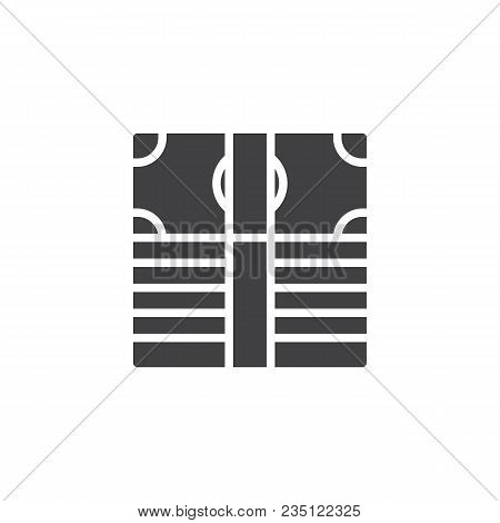 Pile Of Dollar Money Vector Icon. Filled Flat Sign For Mobile Concept And Web Design. Money Stack Si