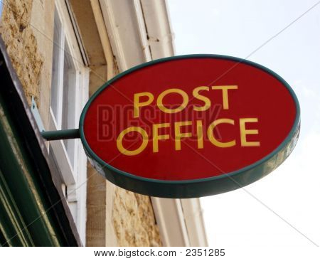 Sign. Post Office Sign.