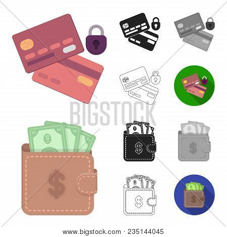 E-commerce, Purchase And Sale Cartoon, Black, Flat, Monochrome, Outline Icons In Set Collection For